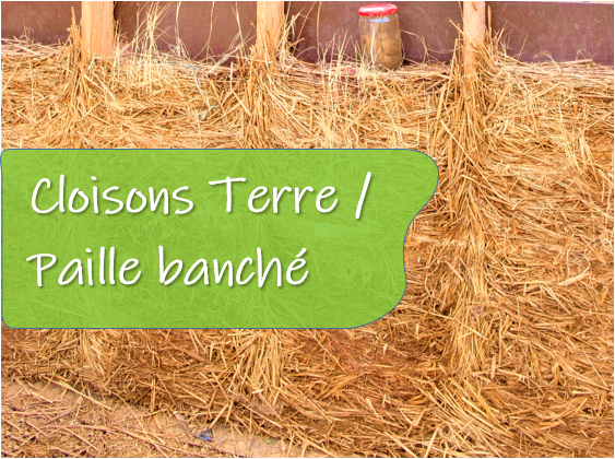 Formation cloisons terre paille